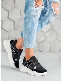 Juodos spalvos batai su platforma - LV81B