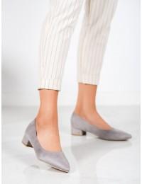 Elegantiški zomšiniai pilkos spalvos bateliai - CC205G