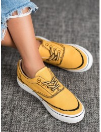 Lengvi geltonos spalvos bateliai - BS103Y
