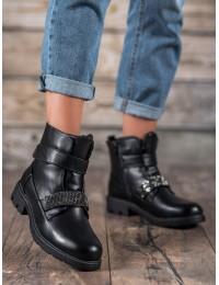 Madingi juodos spalvos batai su pašiltinimu - 7BT35-0006B