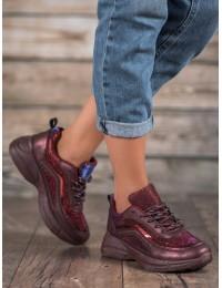 Madingi sportinio stiliaus bordo spalvos batai - BY-082WI