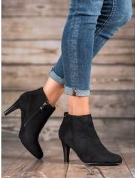 Elegantiški juodi batai patogiu kulnu - DBT1041/19B/B