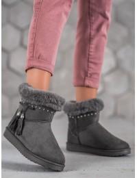UGG stiliaus pilkos spalvos šilti batai - LV68G
