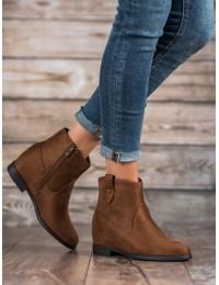 """Zomšiniai rudos spalvos batai su """"paslėpta"""" platforma - DBT1052/19BR"""