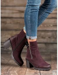 Bordo spalvos aukštos kokybės batai - HX20-16098B