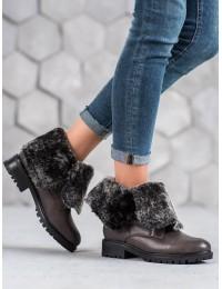 Pilkos spalvos išskirtiniai dviem būdais nešiojami batai - NC701G