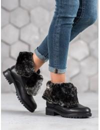 Juodos spalvos išskirtiniai dviem būdais nešiojami batai - NC701B