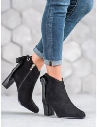Elegantiški zomšiniai juodi batai - DBT939/19B