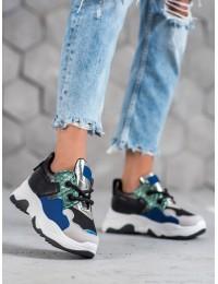 Madingi aukštos kokybės SNEAKERS modelio batai - AB5601B-BL