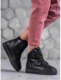 Šilti juodos spalvos žieminiai batai