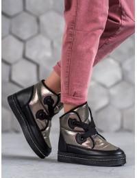 Šilti pilkos spalvos žieminiai batai