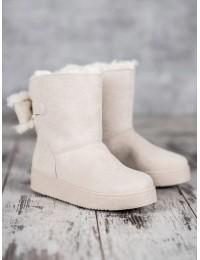 Švelnios smėlio spalvos UGG stiliaus batai