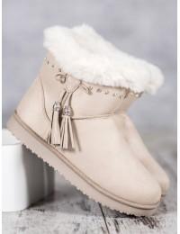 Stilingi patogūs šilti batai papuošti žėrinčiais kristalais - LV68BE