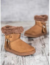 Stilingi patogūs šilti batai papuošti žėrinčiais kristalais - LV68C