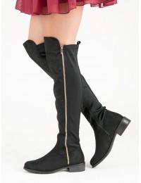 Stilingi Juodos spalvos ilgaauliai su pašiltinimu - DA01B