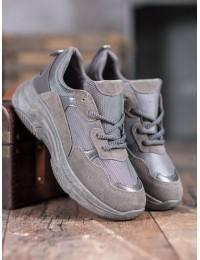 Pilkos spalvos sportinio stiliaus batai - R267G