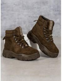Chaki spalvos madingi batai su platforma VICES - 8476-29GR