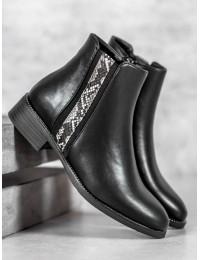 Aukštos kokybės juodi aulinukai su pašiltinimu - DBT970/19B