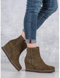 Samanų spalvos zomšiniai batai - K1807402KH
