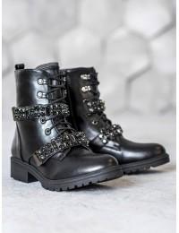Išskirtiniai stilingi aukštos kokybės batai su kristalais - NC891B
