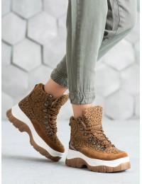 Išskirtiniai madingi aukštos kokybės batai su platforma - HE104C/W
