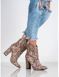 Madingi aukštos kokybės gyvatės odos rašto batai - 1576-14BE