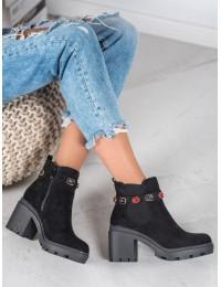 Madingi išskirtinio stiliaus juodi batai su platforma - YQ223B