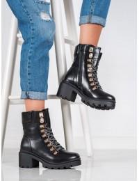 Aukštos kokybės stilingi juodi prabangaus stiliaus batai - HE110B