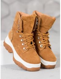 CAMEL spalvos patogūs batai su platforma ir pašilnimu - HE118C