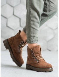 Rudos spalvos šilti patogūs zomšiniai batai - LA62C