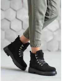 Juodos spalvos šilti patogūs zomšiniai batai - LA62B