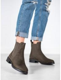 Zomšiniai visuomet stilingi batai su tampria guma - 1001D.GR