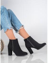 Matinės juodos spalvos batai su pašiltinimu - NS056B
