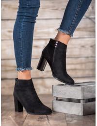 Klasikiniai juodi zomšiniai batai - GD-FL2002B