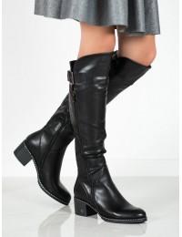 Aukštos kokybės elegantiški juodi ilgaauliai su pašiltinimu - HX20-16073B