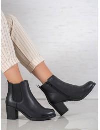 Klasikinio stiliaus juodi žieminiai šilti batai - S1830-1B