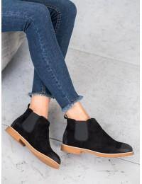 Natūralios verstos odos juodi batai - 6831B