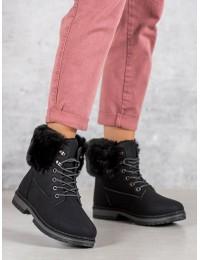 Juodi batai su kailiu - LV65B