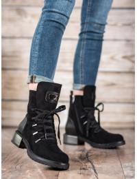 Aukštos kokybės stilingi juodi batai rudeniui/ žiemai