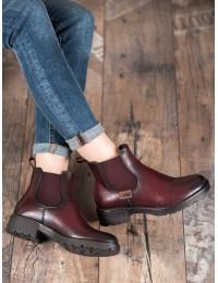Aukštos kokybės bordo spalvos batai - XY20-10477BUR