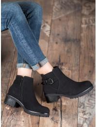 Juodi zomšiniai batai su pašiltinimu