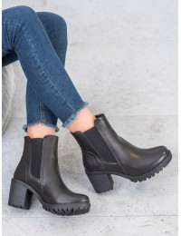Madingi juodos spalvos batai  - V19006B