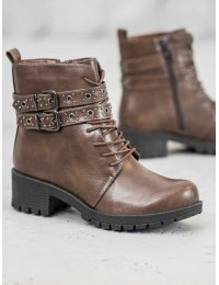 Rudos spalvos suvarstomi batai - 9996-7KH