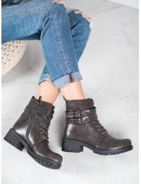 Pilkos spalvos suvarstomi batai