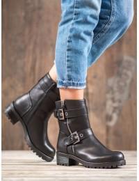 Madingi patogūs juodi batai su pašiltinimu - C556B