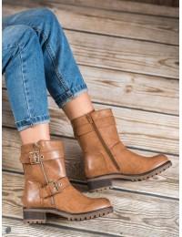 Madingi patogūs rudi batai su pašiltinimu - C556C
