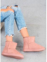 UGG stiliaus rožinės spalvos batai su kailiu - 7602P