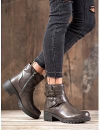 Pilkos spalvos klasikiniai stilingi batai - 9996-5G