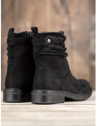 Juodi klasikinio stiliaus batai su pašiltinimu - V19016B