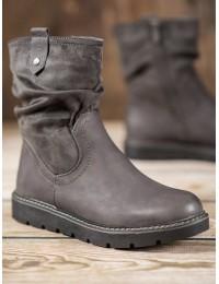 Patogūs pilkos spalvos batai su pašiltinimu - BM-6092G